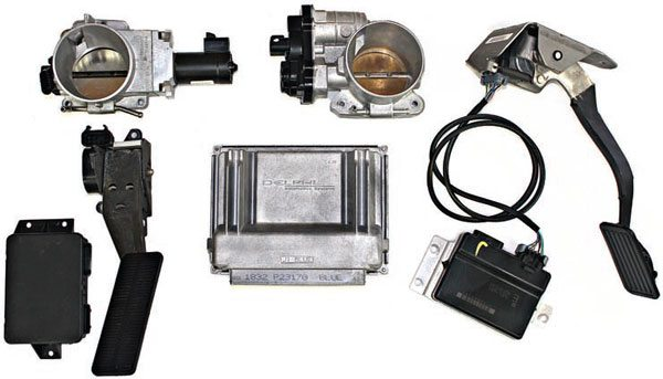 With so many different throttle bodies, pedals, and TAC modules, you must take caution to choose the correct combination of components. Choosing the wrong components could result in no throttle response and an illuminated MIL lamp.