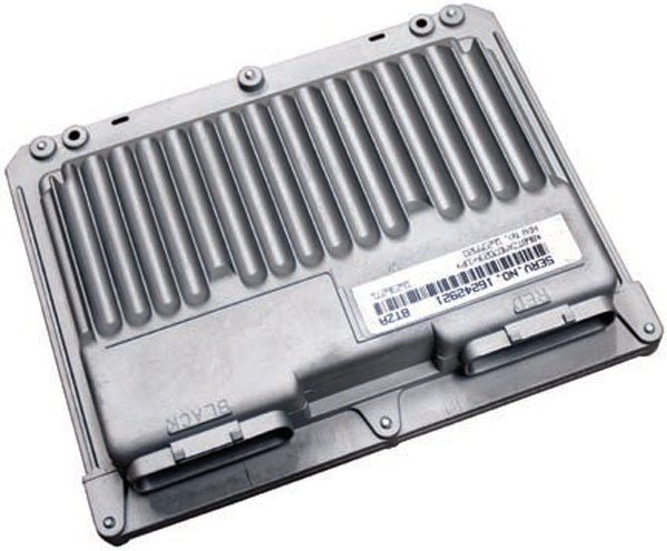 In 1994 General Motors introduced a flash-based PCM in the Camaro, Firebird, and Corvette. This LT1 ECM is unique to the LT1 engines because it requires the high- and low-resolution signals from within the LT1 distributor. Although this early PCM is not fully OBD-II complaint, it has much in common with Gen III PCMs. GM trucks were fitted with an OBD-II compliant flash-based PCM in 1996 (not pictured). With no coil drivers, these early PCMs support only single coil and distributor ignition.
