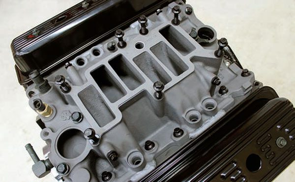 ignition module and coil. Modified Syclone intake manifold installed on Vortec heads.