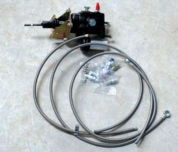 This hydroboost from Power Brake Service is an alternative to the vacuum power booster. It not only provides the needed clearance, it also delivers exceptional braking power. The braking force with a hydroboost is impressive; even stock brakes see a serious increase in performance. The hydroboost gets its power from the power steering pump, which is more reliable than simple vacuum.