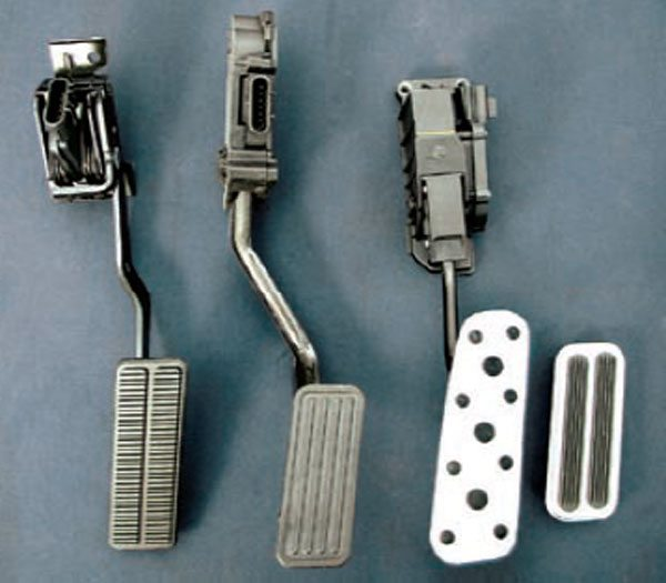 ls swaps engine management systems guide there are several different drive bywire pedals shown from left to right a
