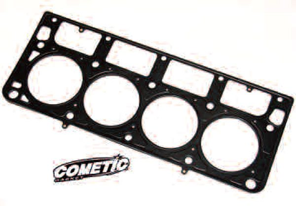 Cometic is a good choice for high-performance head gaskets. These MLS gaskets are comprised of three layers of stainless steel for strength and corrosion resistance, with the two outer layers being Viton-coated. If you're planning on using a set of these gaskets, be aware that a special deck surface finish is required to allow them to fully seal, so let your machine shop know about it.