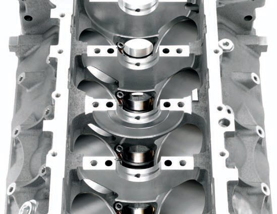 The LSA block is nearly identical to the LS3 and L92 casting, and has the same basic features of all-aluminum LS blocks spun cast-iron cylinder liners and deep-skirted six-bolt powdered metal main caps.