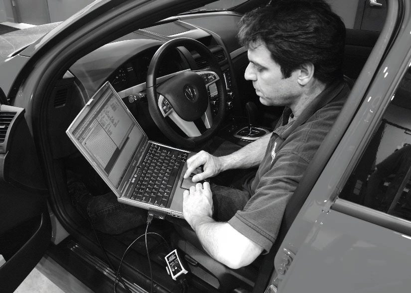 Lidio Iacobelli, from Alternative Auto Performance, performs a common test-and-tune procedure, whereby a test drive of a modified vehicle determines the need for further tuning adjustments. With a laptop connected to the HP Tuners interface and plugged into the OBD-2 port, Iacobelli inputs the value changes and saves them to the controller's flash memory. Then, it's out for another test drive to find out whether the changes delivered the desired results.