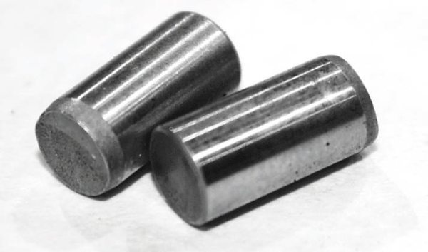 The pins are nothing more than small, lightweight dowels similar to what is used to locate cylinder heads on the cylinder block. They're all that's necessary to provide a positive lock between the crankshaft and damper.