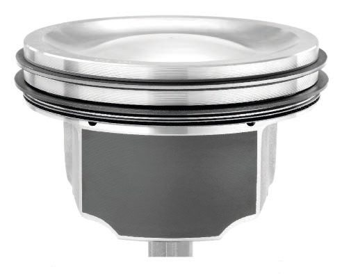 "A better piston selection for a supercharged or turbocharged street/strip LS engine is seen here in the ""D""- shaped dish that provides a large, relatively efficient quench area. Quench is described as the squishing effect on the air charge as the piston reaches top dead center. The shape of the piston's dish helps squeeze air through the combustion chamber in a manner that generally helps even out the temperature throughout the chamber and reduces the chance for detonation. The depth of the dish affects the compression ratio."