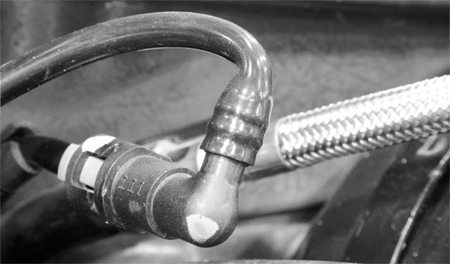 An interesting detail on this system is the reuse of the vacuum port that used to actuate the factory's twostage exhaust system. It now is used to actuate a fuel-pressure regulator mounted at the rear of the vehicle, near the fuel tank.