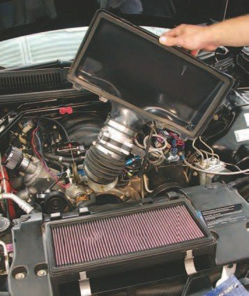 The F-body cars usually require only a lid that doesn't have the ribbing and noise-canceling chambers of the production airbox lid in combination with a low-restriction air cleaner. These are very easy to install.