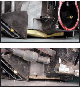 """If the intake is mounted on an engine, the best way to determine whether you are looking at an LS6-style intake is by looking between the valley plate and the bottom of the intake. The intake with the """"wing""""-shaped floor on the top is an LS1 intake, the intake with the flat floor on the bottom is an LS6 intake. As a tip, all 2001 and later LS-engines came with the LS6- style intake."""