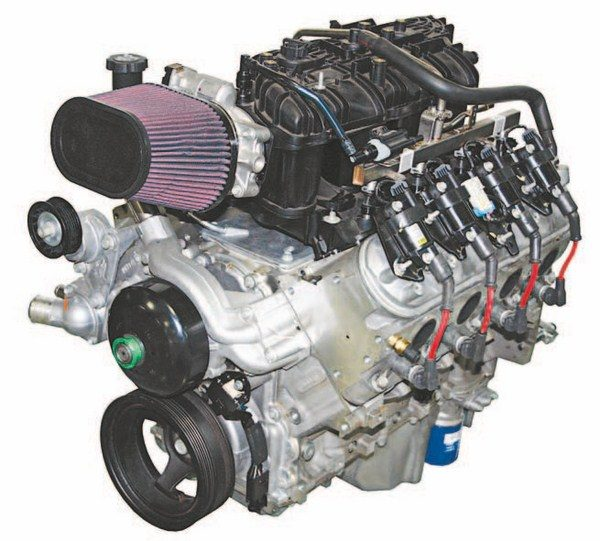 This is Mast Motorsports' truck version of an LS engine. You need to determine your application because that helps you select the best engine for your performance goals. In addition, you need to set your budget and ideal weight for the engine. Aluminum- block engines are lighter but tend to be more expensive than the heavier and less-expensive iron blocks. All LS engines share the same basic dimensions. (Photo Courtesy Mast Motorsports)