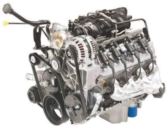 The Vortec 6.0L VVT engine is more commonly known as the L96, which is found on the GMC Savana. Truck LS versions have this tall-style intake and the alternator placed in the 1 o'clock position. This is one of the most affordable engines to find in a salvage yard. (Photo Courtesy General Motors)