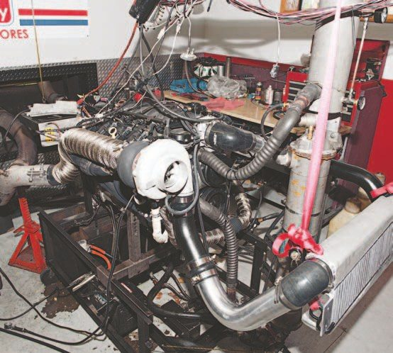 My engine is all set on the dyno and is ready for its first pull. When everything was said and done, I was fairly impressed with performance of a mostly stock engine.