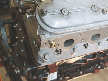 The adapter (PN 2277) is installed in the head. I recommend using a thread sealer to prevent leaks and as the aluminum and brass are soft metals. Be careful not to deform the fitting when tightening it. (Photo Courtesy Auto Meter)