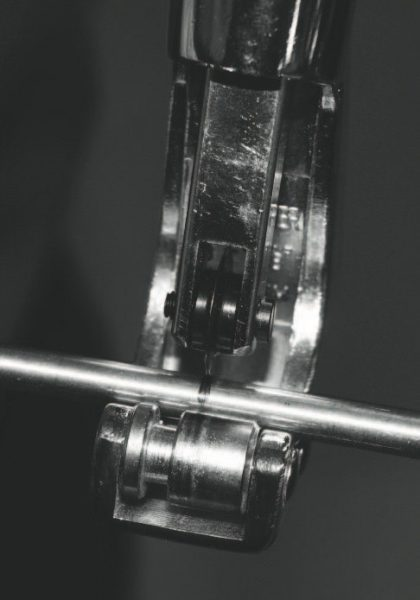 Lingenfelter uses many hard lines in the system, including the oil-feed and oil-return lines at the turbo, which require custom fitting to account for the slight variances among vehicles. After the first turbocharger was installed, for example, this line was measured at cut to fit the oil-feed line to it.