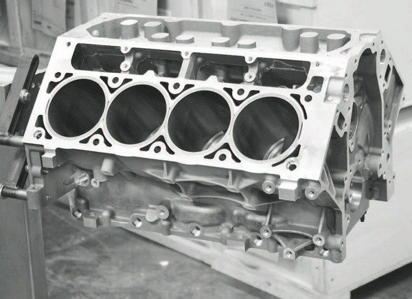 The C5R block was introduced prior to the LS7 engine, making it the only alternative for a larger-displacement, aluminum-block LS engine. But, availability of the LS7 block (PN 19213580) makes it a more economical choice for a lowerboost engine that doesn't necessarily require six-bolt head clamping. It is typically offered at less than half the price of the C5R block.