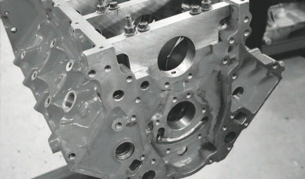 Underpinning the twin-turbo project is GM Performance Parts' LSX cylinder block. Its iron casting makes it very durable for forced-induction combinations, while delivering the added benefit of great affordability; it retails for less than $2,000. It also is designed for six-bolt-per-cylinderhead clamping, tremendously reduces the chance for head gasket problems under high boost.