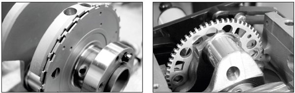At a glance, here's how to tell the different GM reluctor wheels apart. The 24X wheel (left) is found on LS1, LS6, and other engines through about 2007, while the 58X wheel (right) is used on later engines, although there is some modelyear overlap between the reluctor wheel types on LS2 engines. The 2005 Corvette and most 2005 Pontiac GTOs use the LS2 with a 24X wheel. Generally speaking, the 58X wheel is used with Gen IV LS engines that moved the camshaft position sensor from the top rear of the engine block to the front of the engine, near the timing gear. In a custom project that will use a standalone control system, there's not a significant reason to use one type of wheel over the other, but when building an engine for a primarily street-driven vehicle that was originally equipped with an LS engine and retains the original controller, it is best to use the original reluctor wheel design to ensure controller compatibility.