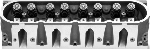 single greatest contributing factor to the Gen III/IV smallblock's outstanding power potential is its cylinder heads. In contrast to the Gen I heads that cram the two center intake ports between a pair of pushrods, LS cylinder heads feature replicated intake ports that are evenly spaced. This allows for uncompromised port geometry and excellent airflow. Stock LS1 castings flow 240 cfm, which is enough to put many ported Gen I castings to shame. (© GM Corp.)