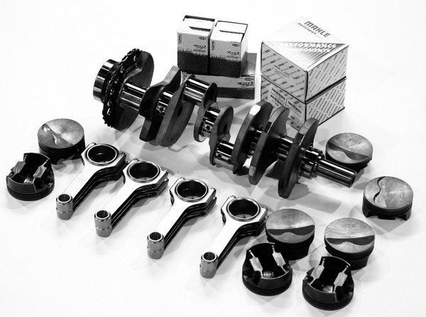 It wasn't too long ago when building a stroker motor involved scrounging a crankshaft from a junkyard, reconditioning a set of factory connecting rods, and hoping that there's an off-the-shelf piston for your desired combination of parts. With the influx of affordable cranks and rods that have hit the market in the last decade, acquiring a stroker rotating assembly is cheaper and easier than ever. Dozens of manufacturers offer stroker kits that include the crankshaft, rods, pistons, rings, and bearings in convenient pre-bundled packages for $2,500.