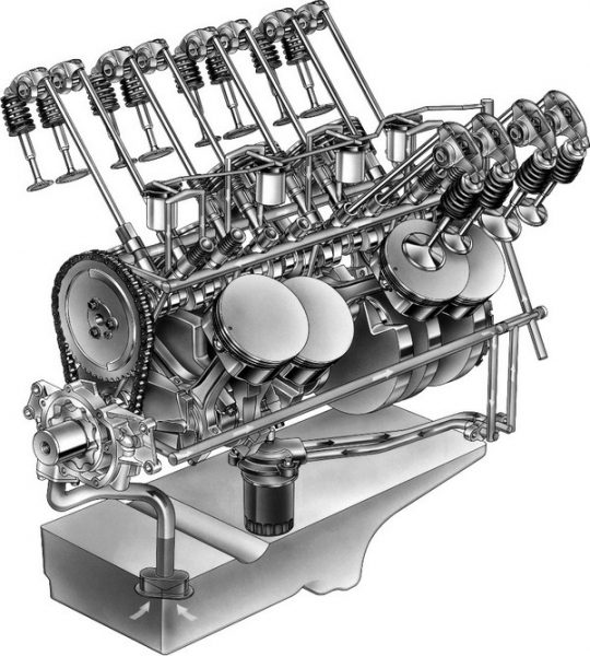 The biggest difference between the Gen IV block and the earlier Gen III block is the Gen IV's ability to support the hardware necessary for displacement on demand (DOD). This feature is used in certain LS motors to deactivate four of the engine's eight cylinders for improved fuel mileage. The system uses a lifter oil manifold assembly (LOMA) mounted in place of a standard lifter-valley plate. Four electric solenoids in the LOMA feed oil pressure to the lifters on cylinders 1, 4, 6, and 7, which causes them to collapse and stay shut as the cam lobes move across the lifters. The revised oil passages and extra space required by the LOMA prompted relocating the knock sensors from the lifter valley to the sides of the block and moving the camshaft position sensor from the back of the motor to the front. (© GM Corp.)