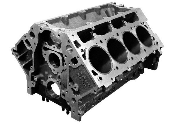 The World Products Warhawk block is cast from 357-T6 aluminum and weighs 133 pounds. It's offered in 9.240- and 9.800-inch deck heights in a variety of bore diameters. The company rates the block at 1,500 hp. (Photo Courtesy of World Products)