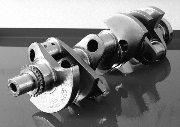 Billet cranks, like this 4.000-inch unit from Bryant Racing, offer the ultimate in strength. However, a custom billet crank costs $2,000 to $3,000, and a forged unit works just as well for most street motors at a fraction of the price.