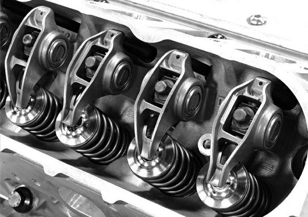 All Gen III/IV small-blocks feature stamped-steel rocker arms with roller trunions. LS7s utilize a 1.8:1 ratio, and all other LS motors have a 1.7:1 ratio. The rocker arms are extremely durable and capable of handling 7,000 rpm.